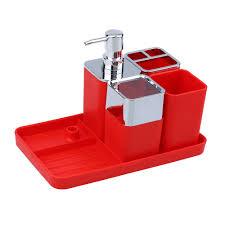 5pcs Plastic Bathroom Accessories Set Soap Dispenser+Soap Dish ...
