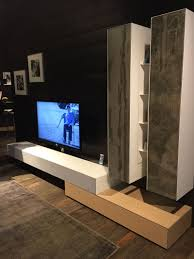 White And Grey Living Room TV Media Stand