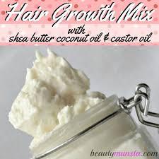 shea er coconut oil castor oil mix