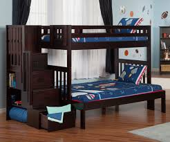 Atlantic Furniture Cascade Espresso Twin Full Staircase Bunk Bed bunk beds  with stairs and stairway