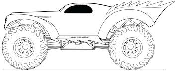 Monster Truck Coloring Pages To Print Monster Truck Coloring Pages