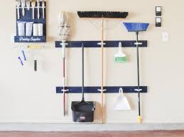 diy garage broom holder