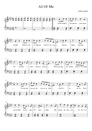 all of me sheet music piano easy all of me sheet music for piano musescore