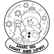 Small Picture Snow Globe Coloring Page Free Christmas Recipes Coloring Pages