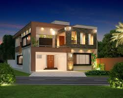 view modern house lights. Front Elevation Modern House Design View Of Small . Home House. Building Lights