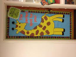 classroom door decorations for fall. Preschool Classroom Door Decorations Beautiful Bulletin Board Idea Giraffe The Perfect Spot For Fall