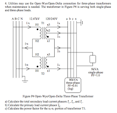 utilities may use the open wye open delta connecti chegg com advantages of open delta connection at Open Delta Transformer Connection Diagram