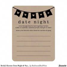 date night invitation template bridal shower date night vacation idea cards beautiful bridal