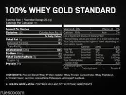 optimum nutrition on whey gold standard