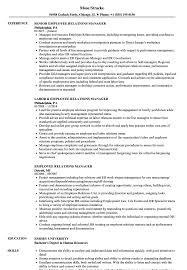 Employee Relations Manager Resume Samples Velvet Jobs