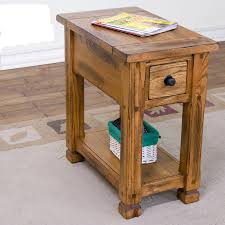 Sunny Designs 3133ro Sunny Designs Sedona Chair Side Table W Drawer And Shelf