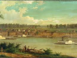 painting of the evansville riverfront in 1820 courtesy