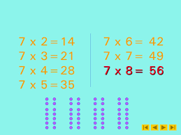 seven times table self test 8 questions and answers sequentialrandom slide 30