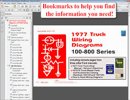 com ford truck wiring diagrams cd rom 1977 ford truck wiring diagrams 100 800 series