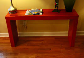 free plans to build a modern style console table out of 2x4s plans from ana white com
