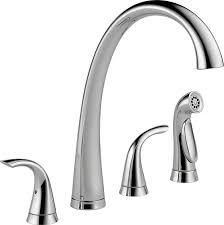 enchanting handle kitchen faucet double spout two with pull down sprayer silver top rated sink faucets