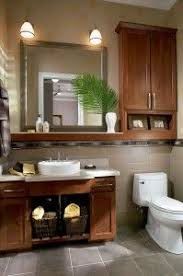 cabinets over toilet in bathroom. waypoint bathroom cabinetry with over-the-toilet storage in style 630f cherry chocolate cabinets over toilet