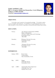 Format Resume Sample Resume Sample Fresh Graduates Philippines Refrence Sample Format 28