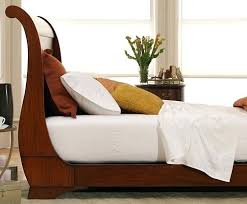 Trendy Platform Sleigh Bed Mahogany Sleigh Platform Bed Side View