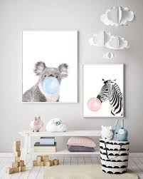 <b>Baby</b> Animal Bubblegum Art <b>Bedroom Canvas</b>, <b>Nursery Canvas</b> Art ...