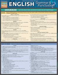 Bar Charts Quick Study Reference Guide English Grammar