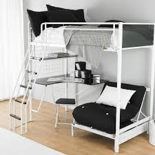 metal bunk bed with desk underneath81 metal