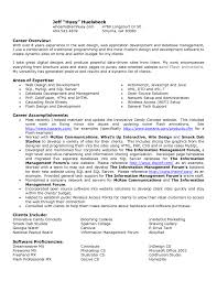 Cover Letter Resume Career Overview Example Resume Career Summary
