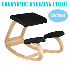 ergonomic kneeling office chairs. VEVOR Ergonomic Kneeling Chair Beech Wood Office Perfect For Body Shaping And Relieving Chairs T