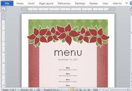 christmas menu borders christmas menu borders templates halloween holidays wizard
