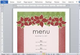 christmas menu borders christmas menu borders templates halloween holidays wizard