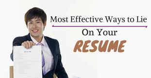 Lying On Resume Inspiration How to Lie on Your Resume 60 Most Effective Ways WiseStep
