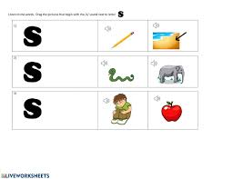 250 free phonics worksheets covering all 44 sounds, reading, spelling, sight words and sentences! Beginning S Sound Worksheet