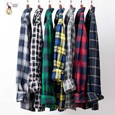 <b>AOLIWEN</b> Plaid Casual shirt Long sleeve Brand <b>men's</b> shirt Cotton ...