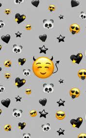 Free download Black emoji background ...