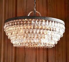 clarissa crystal drop round chandelier pottery barn crystal drop small round chandeliers clarissa
