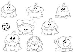 Cut The Rope Coloring Pages