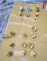 how to upgrade your old brass door knobs with spray paint young house love