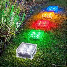 best solar garden lights. Best Solar Brick Ice Cube Path Lights Crystal Garden Lamp Led Underground Powered Ground Light Decor For Holiday Home Party Under $10.06