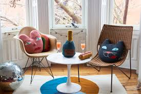 whimsical furniture and decor. To The Clean-lined Wood Furniture That Oeuf Sells: Rugs In Line Are 100 Percent Wool And Joined By Hand-loomed Pillows Shaped Like Toothy Grins, Whimsical Decor E