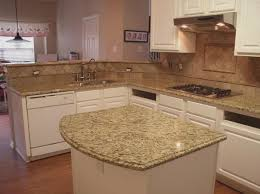 image of venetian gold granite kitchen countertops tile backsplash