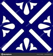 Blue And White Decorative Tiles Tile Indigo Blue White Decorative Floor Tiles Vector Pattern 66
