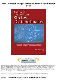 Free Download Langs Complete Kitchen Cabinet Maker Book Pages 1 3
