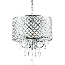 oval crystal chandelier with drum shade 8 light bronze pendant