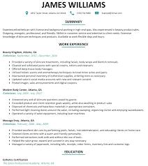 New Esthetician Resume Template Luxury Esthetician Resume Sample