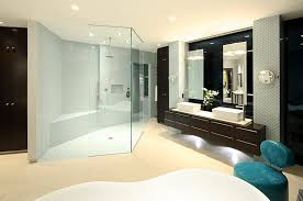 large modern bathroom. Picture Of The Modern Bathroom With Large Shower Cabin And Dark Brown Furniture E