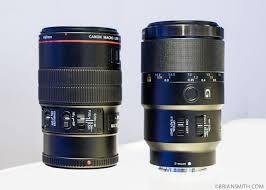 sony 90mm macro. canon 100 f2.8 macro and sony fe 90mm lenses at
