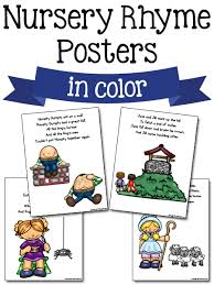 Add some color and inspiration with classroom posters. Nursery Rhyme Printables Prekinders