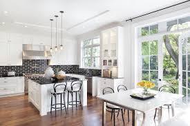 white and black kitchen backsplashes. Fine Kitchen White Kitchen Cabinets With Black Brick Tile Backsplash For And Backsplashes X