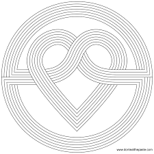 Small Picture Printable 16 Geometric Heart Coloring Pages 9798 Heart Coloring