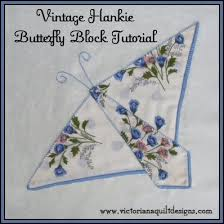 Vintage Hankie Butterfly Block Quilt Pattern Tutorial from ... & Vintage Hankie Butterfly Block Quilt Pattern Tutorial Adamdwight.com